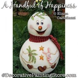 A Handful of Happiness Snowman Gourd ePattern - Eliana Castellazzi - PDF DOWNLOAD