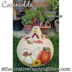 Coconedda Autumn Chicken Gourd ePattern - Eliana Castellazzi - PDF DOWNLOAD