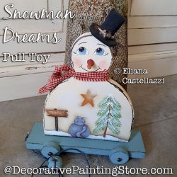 Snowman Dreams Pull Toy ePattern - Eliana Castellazzi - PDF DOWNLOAD