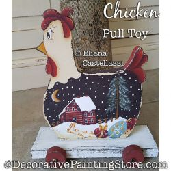 Chicken Pull Toy ePattern - Eliana Castellazzi - PDF DOWNLOAD
