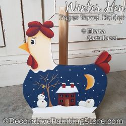 Winter Hen Paper Towel Holder ePattern - Eliana Castellazzi - PDF DOWNLOAD