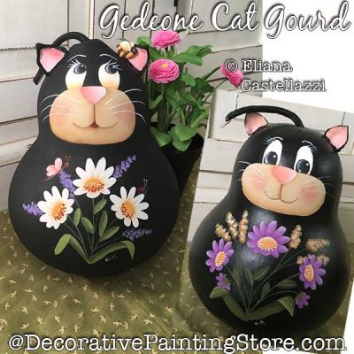 Gedeone Cat Gnome Gourd Painting Pattern PDF Download - Eliana Castellazzi