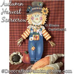 Autumn Harvest Scarecrow Painting Pattern PDF Download - Eliana Castellazzi