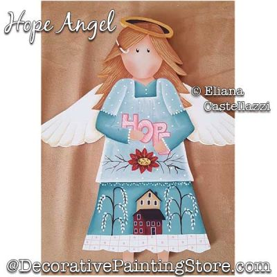 Hope Angel Painting Pattern PDF Download - Eliana Castellazzi