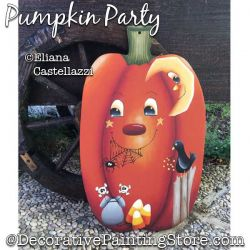 Pumpkin Party Painting Pattern PDF Download - Eliana Castellazzi