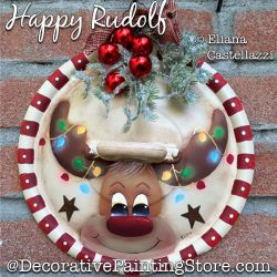 Happy Rudolf (Reindeer) Painting Pattern PDF Download - Eliana Castellazzi