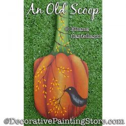 An Old Scoop (Pumpkin) Painting Pattern PDF Download - Eliana Castellazzi