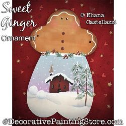 Sweet Ginger Ornament Painting Pattern PDF Download - Eliana Castellazzi