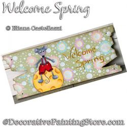 Welcome Spring Painting Pattern PDF Download - Eliana Castellazzi
