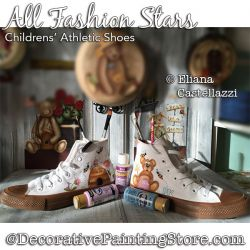All Fashion Stars (Child Shoes) Painting Pattern PDF Download - Eliana Castellazzi