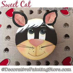 Sweet Cat Painting Pattern PDF Download - Eliana Castellazzi
