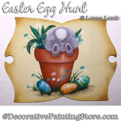 Easter Egg Hunt DOWNLOAD Painting Pattern - Lonna Lamb