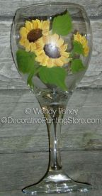 A Sip of Sunflower Glass Painting ePacket - Wendy Fahey - PDF DOWNLOAD