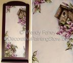 Clematis Birdhouse Memo Board Pen and Ink ePacket - Wendy Fahey - PDF DOWNLOAD