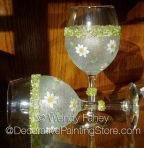 Diamonds and Daisies Glass Painting ePacket - Wendy Fahey - PDF DOWNLOAD