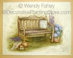 Garden Bench Stain Painting ePacket - Wendy Fahey - PDF DOWNLOAD