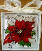 Poinsetta Glass Block ePacket - Wendy Fahey - PDF DOWNLOAD