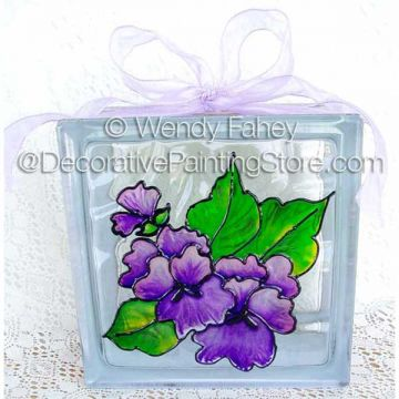 Pansy Glass Block ePacket - Wendy Fahey - PDF DOWNLOAD