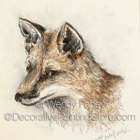 Shy Fox Pen and Ink ePacket - Wendy Fahey - PDF DOWNLOAD