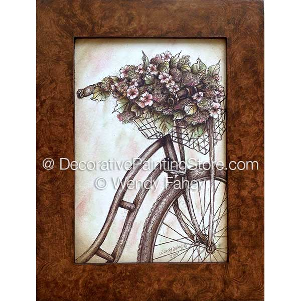 Memory Lane & Faux Wood Frame Pen and Ink ePacket - Wendy Fahey - PDF DOWNLOAD
