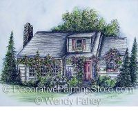 Rose Cottage Pen and Ink ePacket - Wendy Fahey - PDF DOWNLOAD