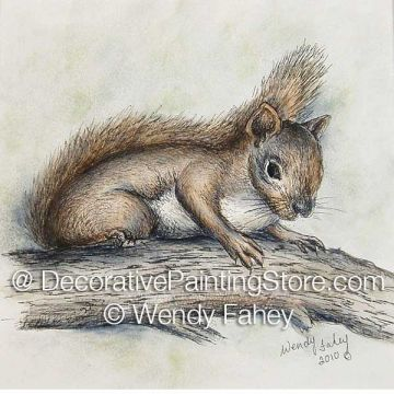 Squirrel Pen and Ink ePacket - Wendy Fahey - PDF DOWNLOAD