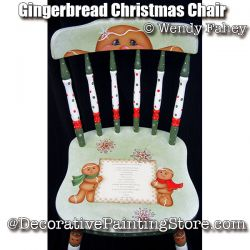Gingerbread Christmas Chair ePacket - Wendy Fahey - PDF DOWNLOAD