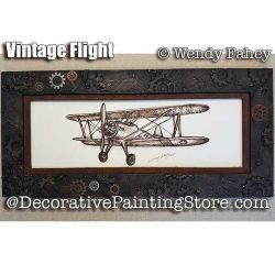 Vintage Flight Pen and Ink ePacket - Wendy Fahey - PDF DOWNLOAD