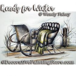 Ready for Winter Pen and Ink ePacket - Wendy Fahey - PDF DOWNLOAD