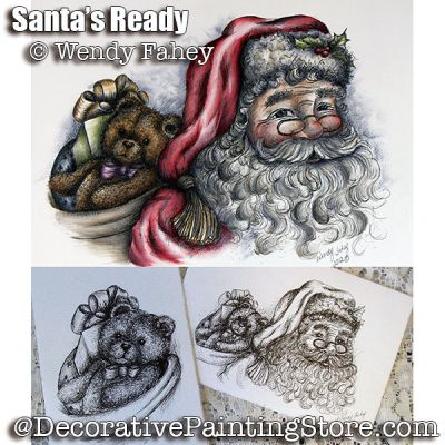 Santas Ready Pen and Ink ePacket - Wendy Fahey - PDF DOWNLOAD