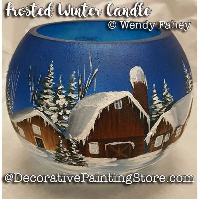 Frosted Winter Candle ePacket - Wendy Fahey - PDF DOWNLOAD
