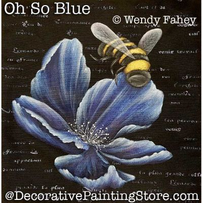 Oh So Blue (flower and bee) ePacket - Wendy Fahey - PDF DOWNLOAD