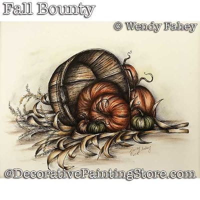 Fall Bounty Pen and Ink DOWNLOAD - Wendy Fahey