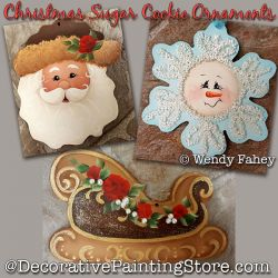 Christmas Sugar Cookie Ornaments DOWNLOAD - Wendy Fahey