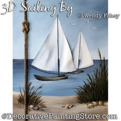 3D Sailing By (Sailboats) DOWNLOAD - Wendy Fahey
