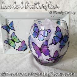 Leaded Butterflies (on Glass) DOWNLOAD - Wendy Fahey
