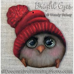 Bright Eyes (Baby Owl) Painting Pattern PDF DOWNLOAD - Wendy Fahey