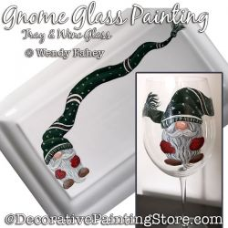 Gnome Glass Painting Pattern PDF DOWNLOAD - Wendy Fahey