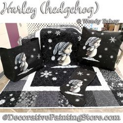 Harley (hedgehog) Painting Pattern PDF DOWNLOAD - Wendy Fahey