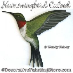 Hummingbird Painting Pattern PDF DOWNLOAD - Wendy Fahey