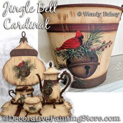 Jingle Bell (cardinal) Painting Pattern PDF DOWNLOAD - Wendy Fahey