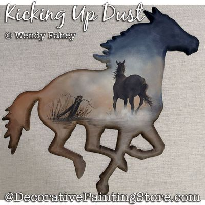 Kicking Up Dust (horse) Painting Pattern PDF DOWNLOAD - Wendy Fahey
