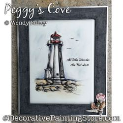 Peggys Cove (Pen and Ink Lighthouse) Painting Pattern PDF DOWNLOAD - Wendy Fahey