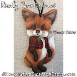 Rusty Fox Ornament Painting Pattern PDF DOWNLOAD - Wendy Fahey
