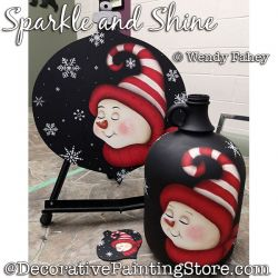 Sparkle and Shine (Snowman) Painting Pattern PDF DOWNLOAD - Wendy Fahey
