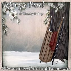 Taking a Break (Sled) Painting Pattern PDF DOWNLOAD - Wendy Fahey