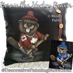 Bernie the Hockey Beaver Painting Pattern PDF DOWNLOAD - Wendy Fahey