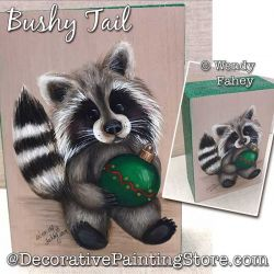 Bushy Tail (Raccoon) Painting Pattern PDF DOWNLOAD - Wendy Fahey