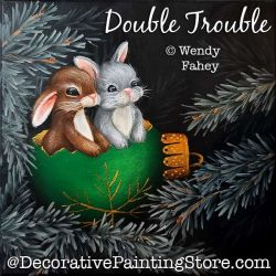 Double Trouble (Bunny Rabbits) Painting Pattern PDF DOWNLOAD - Wendy Fahey