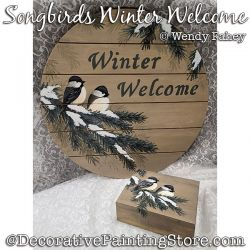 Songbirds Winter Welcome (Chickadees) Painting Pattern PDF DOWNLOAD - Wendy Fahey